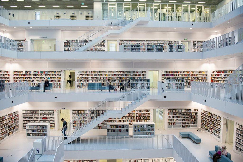 library, architecture, books
